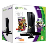 XBox 360 4G (Slim)+Kinect+ Sports2+Карта подписки 1 месяц