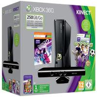 XBox 360 250G (Slim)+ Kinect+Dance Central 2+Sport