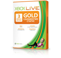 Карточка подсписки с Золотым статусом Xbox LIVE Gold на 3 месяца