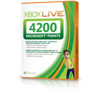 4200 баллов Microsoft Points Xbox Live