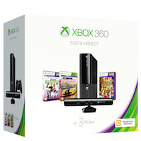 XBox 360E 500G (Slim), Kinect, Forza Horizon, Kinect Sport
