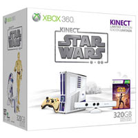 XBox 360 320G (Slim)+Kinect +Star Wars Limited Edition