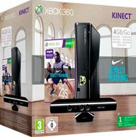 XBox 360 4G (Slim)+Kinect+ Nike+Kinect Training